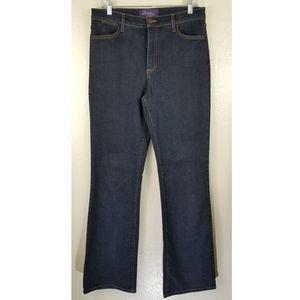 NYDJ Blue Straight Leg High Waist Sz 12
